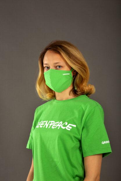 mascherina verde greenpeace