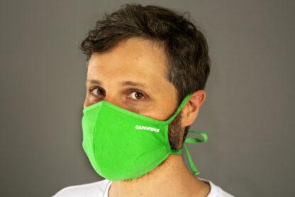 mascherina verde cotone monkey